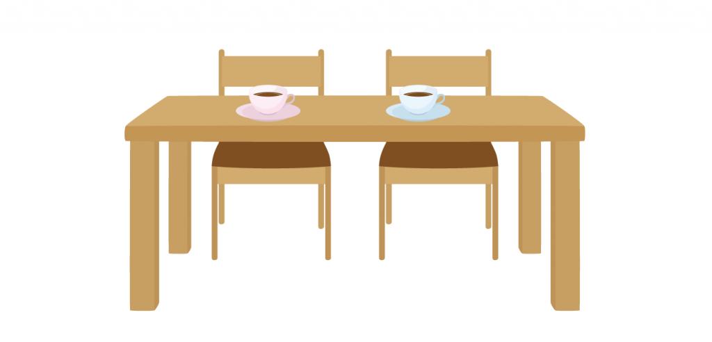 ごはんを食べるとき、テーブルにつけるものって、なーんだ?
